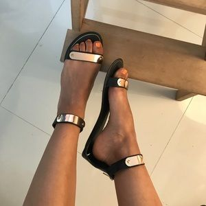Rose Gold Plate sandals